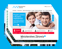 Website for Ministry of Health Republic of Poland