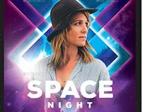Space Guest Dj Flyer