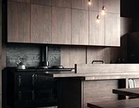 Wabi Sabi Kitchen. Francois Eddy Architect / Full CG