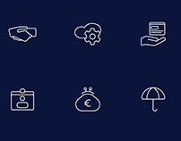 Web Summit - Startup Industry Icon Set