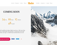 Coming Soon Page - Nectar WordPress Theme