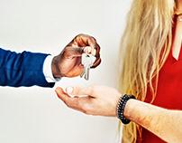 Turning over house keys