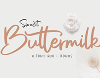 Sweet Buttermilk - Font Family (Free Download)