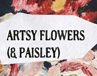 Artsy Flowers (& Paisley) - Graphic Proposals