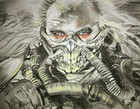 Immortan Joe, Charcoal on paper, 2015.