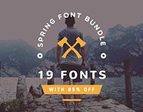 Spring Font bundle