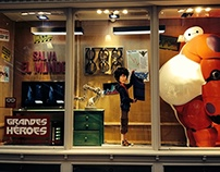 Big Hero 6 Window Display 2015 // DISNEY
