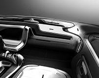 Geely - Interior sketch project