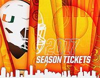 2017 University of Miami Football Season Tickets