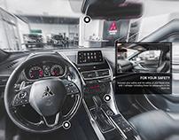 360° immersive widgets for Mitsubishi Motors