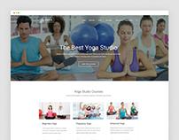 Yoga Studio – Yoga Website Template Free on behance