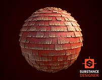 Substance Designer | Stylized Roof