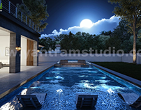 Incredible 3D Exterior & Interior Walkthrough Pool Home