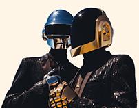 Digital Portrait of Daft Punk