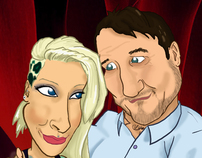 Amy and Jon Caricature