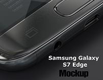 Samsung Galaxy S7 Edge App Mockup