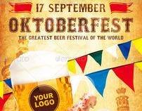 Oktoberfest Festival Template, PSD Template