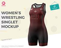 Women's Wrestling Singlet Mockup