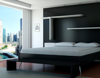 3D Architectural Visualisation - Bedroom