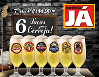 Taças de Cerveja - Notícia Já