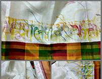 Silk Calligraphy Saree