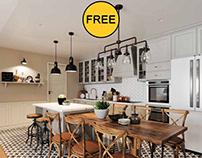 FREE 3D Model Kitchen 213