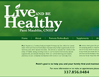 Live and Be Healthy Website Design