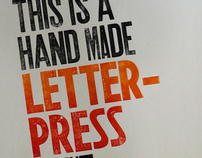 """This is a hand made letterpress print"""