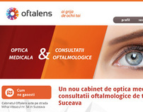 Oftalens website design and development
