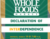 Event poster, Whole Foods + WSU