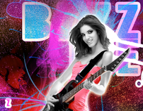 """BZZZME.COM"" - CD COVER GRAPHIC DESIGN GIRL ROCK"