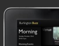 Burlington Buzz Wireframes