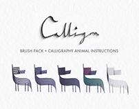 Calligra - A calligraphy brush/animal instruction set
