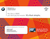 BMW Financial Visa Card Direct Mail