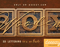 FREE Vintage Wooden Box 3D Lettering