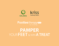 Foottee therapy PAMPER YOUR FEET AND WIN A TREAT