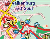 Routekaartjes van verschillende wandel- en fietsboekjes