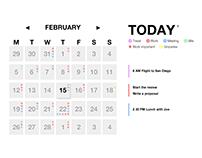 Simple Calendar UI