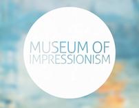 Museum Of Impressionism App Concept