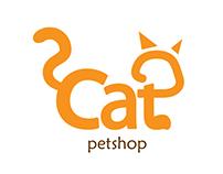 Cat Petshop Logo Design