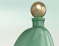 Perfume bottle 3d visualisation