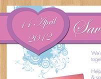 Wedding Invite ( Invite & Save the Date )