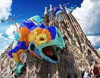 Guardián del Mosaico | Tributo a Gaudí