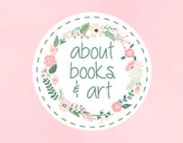 About Books & Art - Logo & Blog Header