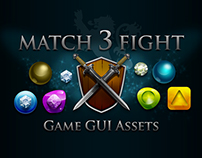 MATCH 3 FIGHT  -  Game GUI