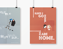 Movie Quote Posters - Hipster Romance Illustrations