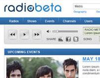 RADIO BETA // UI Website Design