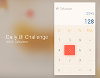 #004 - Calculator, Daily UI Challenge