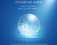 Poster Conserve Water