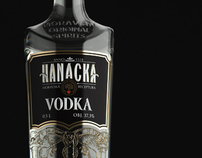 3D visualization of the bottle for Hanácká vodka